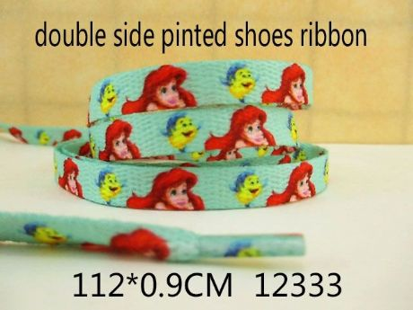 1 PAIR OF ARIEL LITTLE MERMAID DOUBLE SIDED PRINTED SHOE LACES LOOK BARGAIN